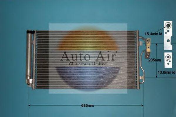 Конденсатор, кондиционер AUTO AIR GLOUCESTER 169948