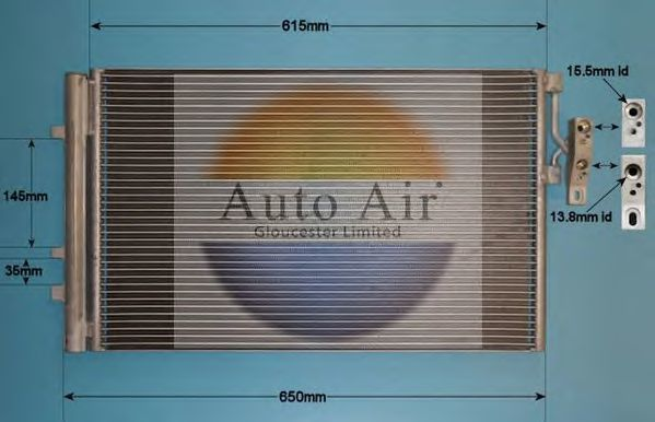 Конденсатор, кондиционер AUTO AIR GLOUCESTER 161987