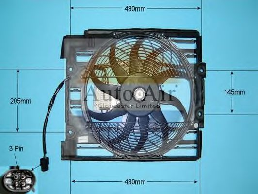 Электродвигатель, вентилятор радиатора AUTO AIR GLOUCESTER 051110