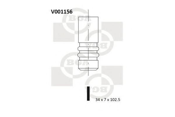 Клапан двигателя BGA V001156