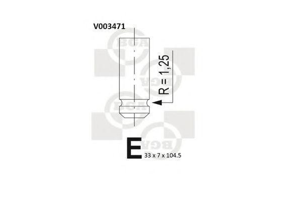 Клапан двигателя впускной BGA V003471