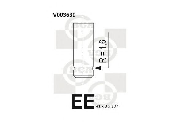 Клапан двигателя впускной BGA V003639