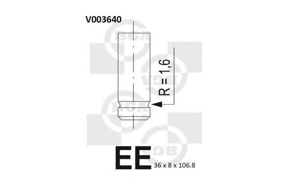 Клапан двигателя выпускной BGA V003640