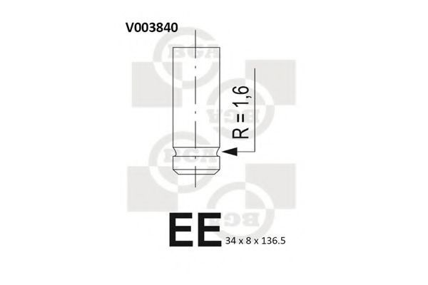 Клапан двигателя BGA V003840