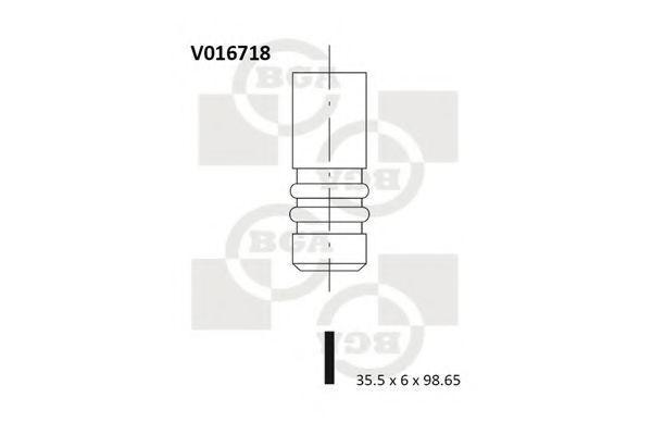 Клапан двигателя впускной BGA V016718