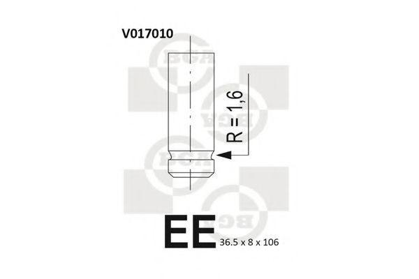 Клапан двигателя BGA V017010
