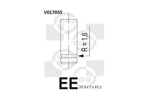 Клапан двигателя выпускной BGA V017055