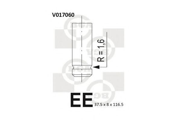 Клапан двигателя впускной BGA V017060