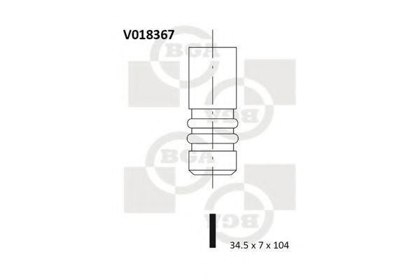 Клапан двигателя BGA V018367