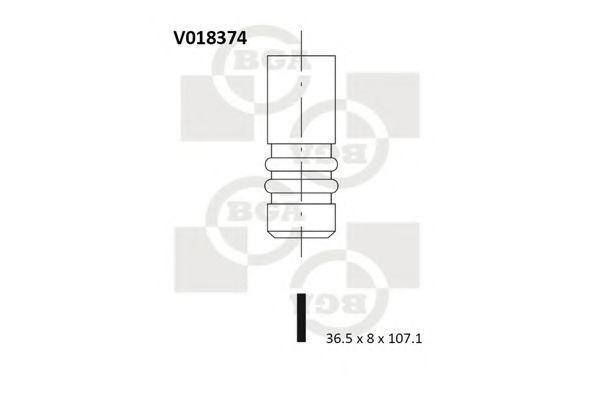 Клапан двигателя впускной BGA V018374
