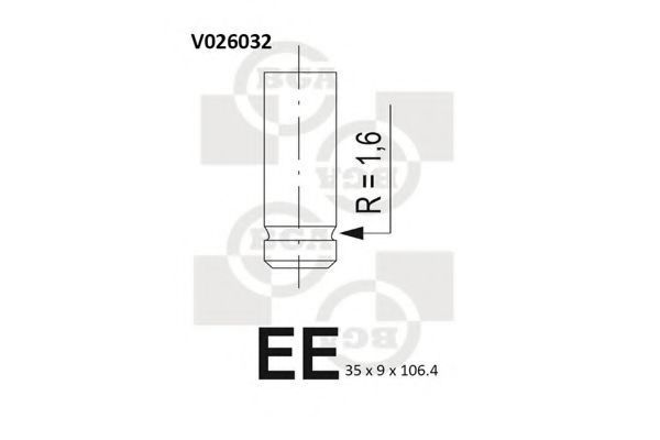 Клапан двигателя выпускной BGA V026032
