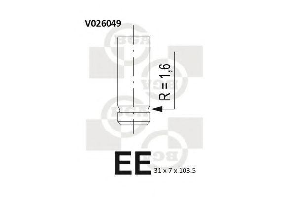 Клапан двигателя выпускной BGA V026049