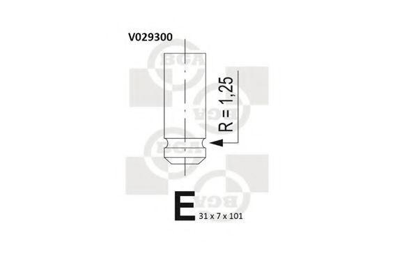 Клапан двигателя выпускной BGA V029300
