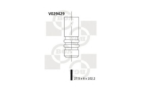 Клапан двигателя выпускной BGA V029429
