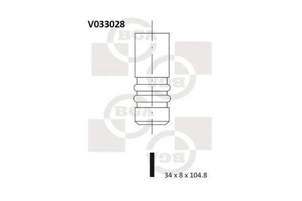 Клапан двигателя впускной BGA V033028