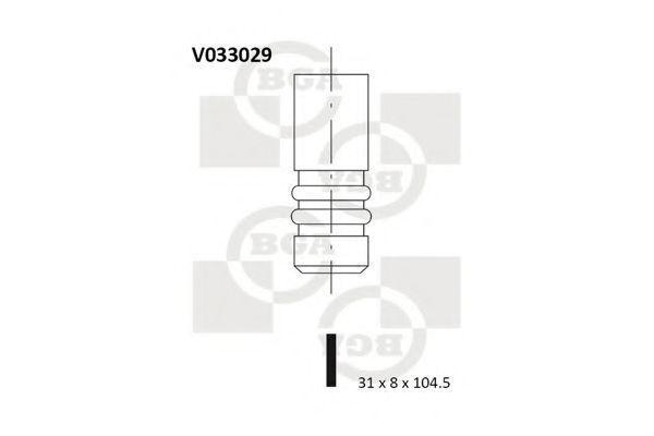 Клапан двигателя выпускной BGA V033029