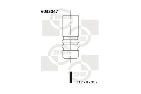 Клапан двигателя выпускной BGA V033047