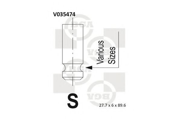 Клапан двигателя BGA V035474