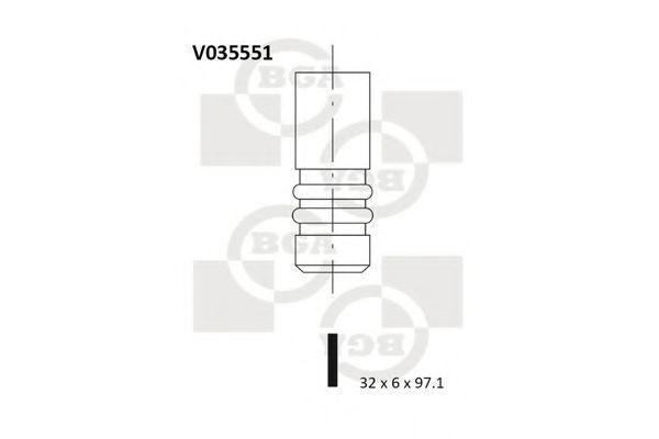 Клапан двигателя впускной BGA V035551