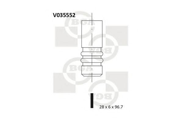 Клапан двигателя выпускной BGA V035552