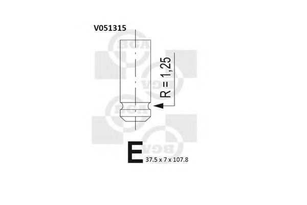 Клапан двигателя впускной BGA V051315