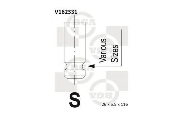 Клапан двигателя BGA V162331