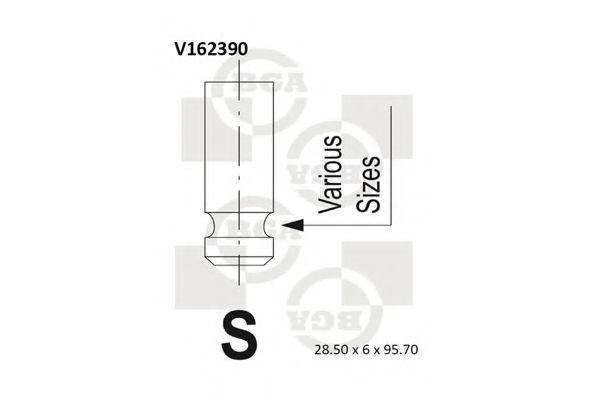 Клапан двигателя BGA V162390