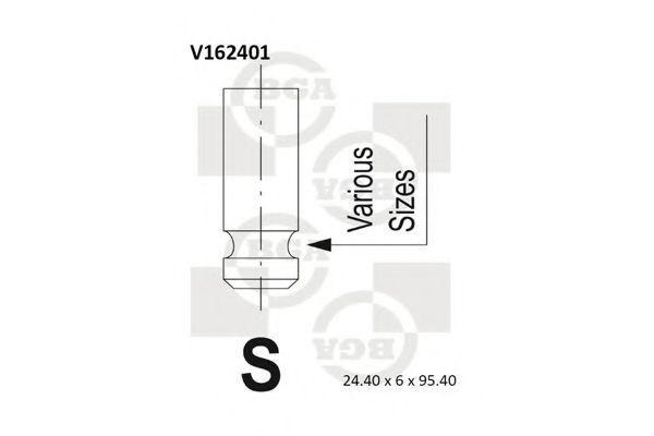 Клапан двигателя выпускной BGA V162401