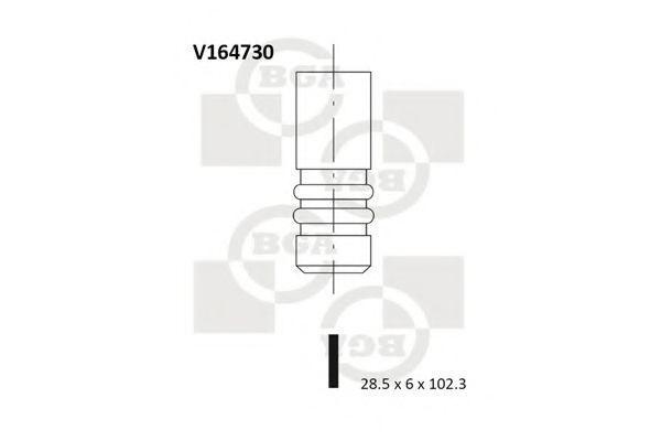 Клапан двигателя впускной BGA V164730