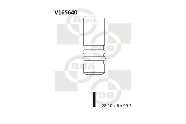 Клапан двигателя впускной BGA V165640