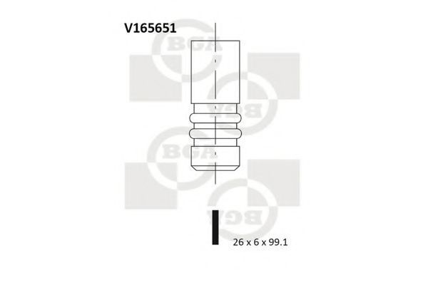 Клапан двигателя выпускной BGA V165651