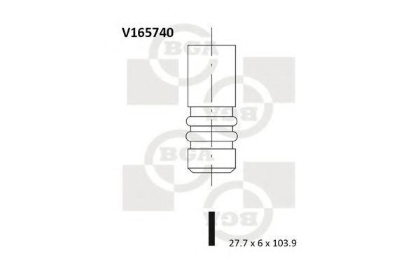 Клапан двигателя впускной BGA V165740