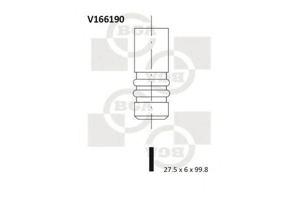 Клапан двигателя впускной BGA V166190