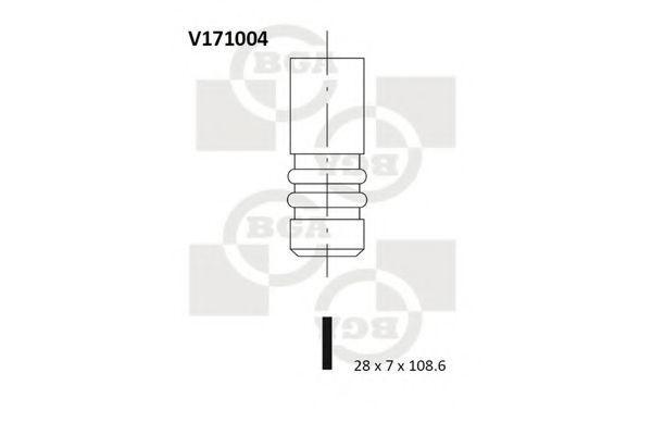 Клапан двигателя BGA V171004
