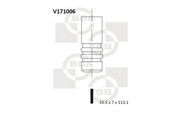 Клапан двигателя BGA V171006