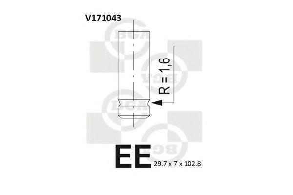 Клапан двигателя выпускной BGA V171043