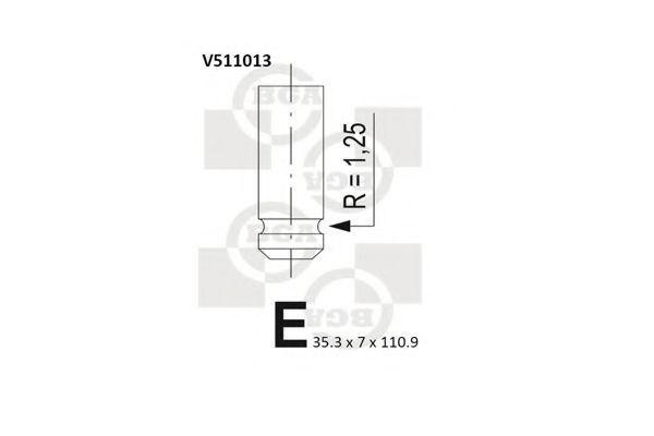 Клапан двигателя впускной BGA V511013