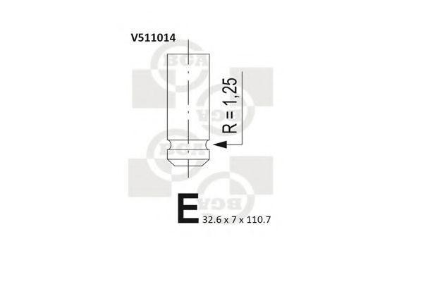 Клапан двигателя выпускной BGA V511014