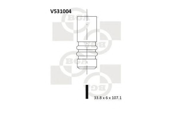 Клапан двигателя выпускной BGA V531004