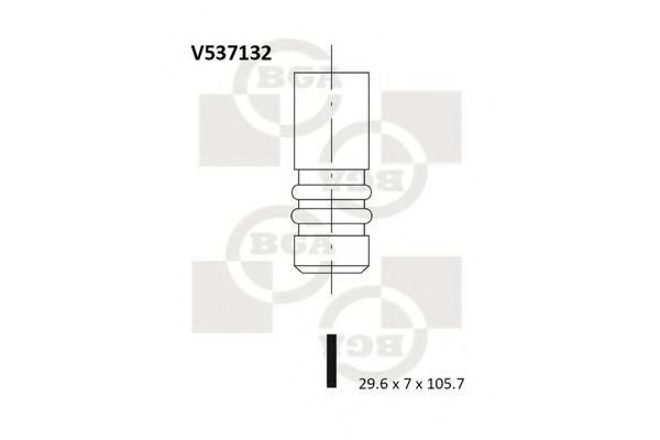 Клапан двигателя выпускной BGA V537132