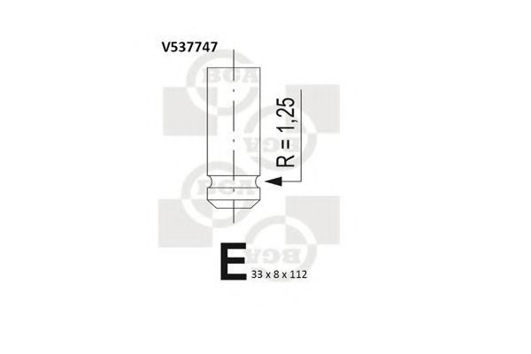 Клапан двигателя выпускной BGA V537747
