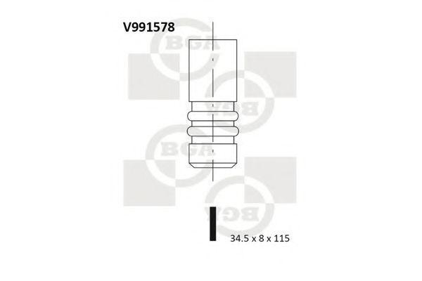 Клапан двигателя выпускной BGA V991578