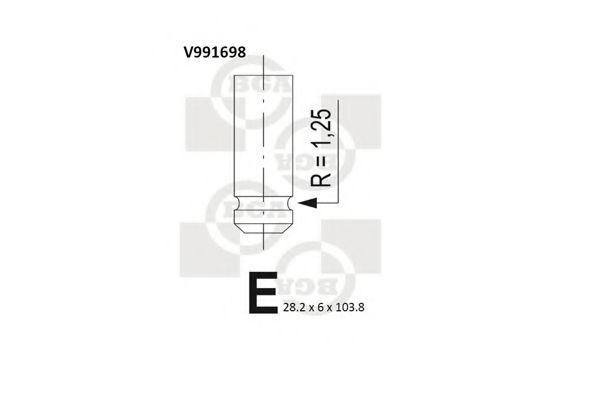 Клапан двигателя BGA V991698