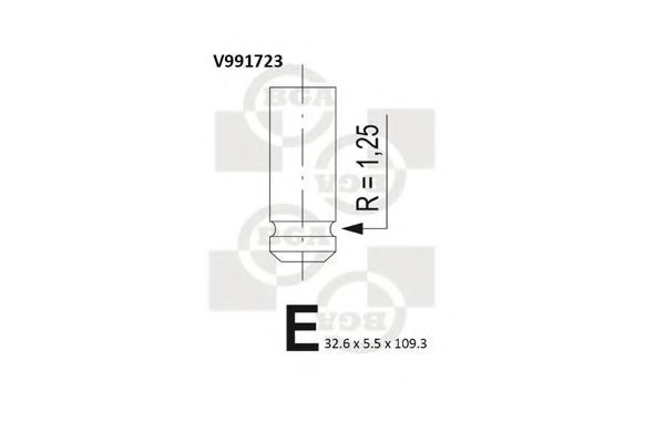 Клапан двигателя впускной BGA V991723