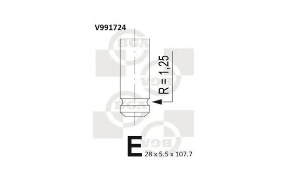 Клапан двигателя выпускной BGA V991724