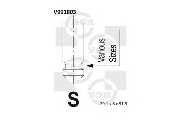 Клапан двигателя впускной BGA V991803