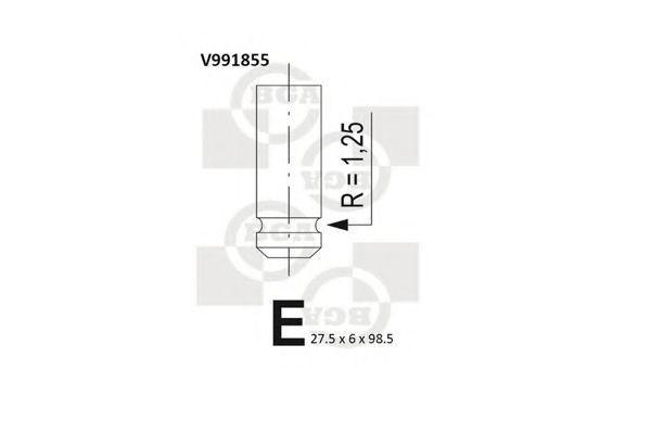 Клапан двигателя впускной BGA V991855