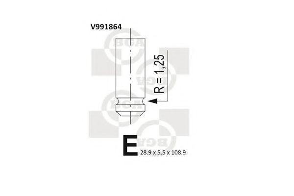 Клапан двигателя выпускной BGA V991864