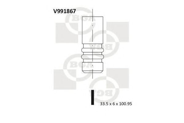 Клапан двигателя впускной BGA V991867