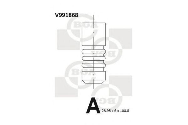 Клапан двигателя выпускной BGA V991868